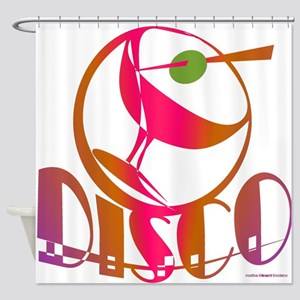 Disco Martini Shower Curtain