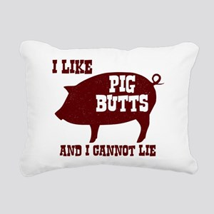 I Like Pig Butts Rectangular Canvas Pillow