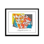 Dont Be Afraid to Try Framed Panel Print