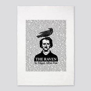 The Raven by Edgar Allan Poe 5'x7'Area Rug