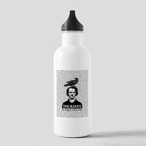 The Raven by Edgar Allan Poe Water Bottle