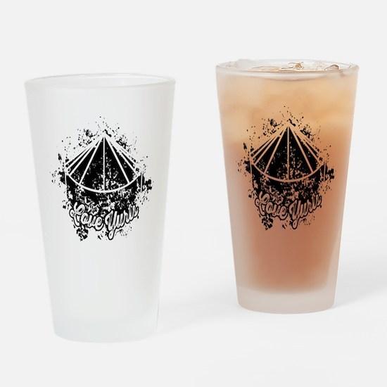Love Yurts   Black Drinking Glass