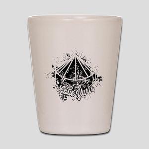Love Yurts   Black Shot Glass