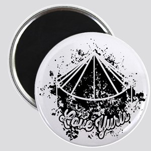 Love Yurts   Black Magnet