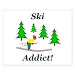 Ski Addict Small Poster