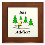 Ski Addict Framed Tile