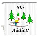 Ski Addict Shower Curtain