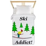 Ski Addict Twin Duvet