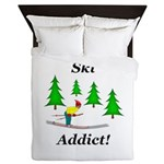 Ski Addict Queen Duvet