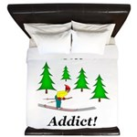 Ski Addict King Duvet