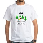 Ski Addict White T-Shirt