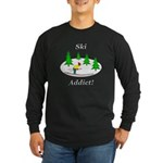 Ski Addict Long Sleeve Dark T-Shirt