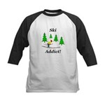 Ski Addict Kids Baseball Jersey