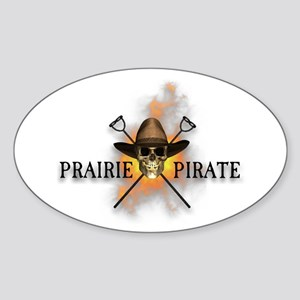Prairie Cowboy Pirate Oval Sticker