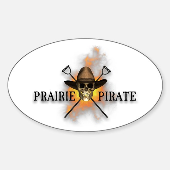 Prairie Cowboy Pirate Oval Decal
