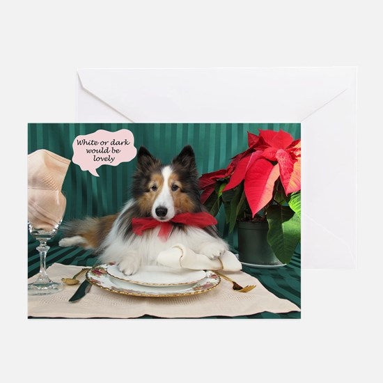 White Or Dark Would Be Lovely Greeting Cards