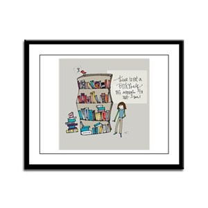 The Book Lover Framed Panel Print