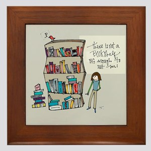 The Book Lover Framed Tile