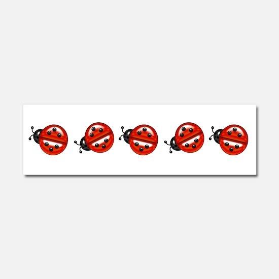 Ladybug Parade Car Magnet 10 x 3