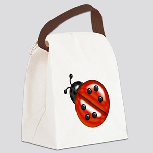 Cute Red Ladybug Canvas Lunch Bag