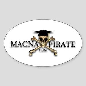 Magna Cum Pirate Oval Sticker