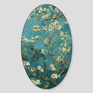 Blossoming Almond Tree, Vincent van Sticker (Oval)