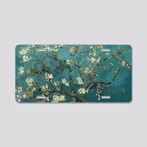Blossoming Almond Tree, Vin Aluminum License Plate
