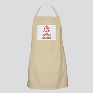 Keep calm by eating Bacon Apron