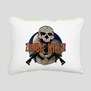 Tactical zombie killer Rectangular Canvas Pillow