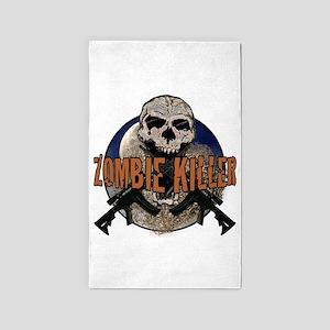 Tactical zombie killer 3'x5' Area Rug