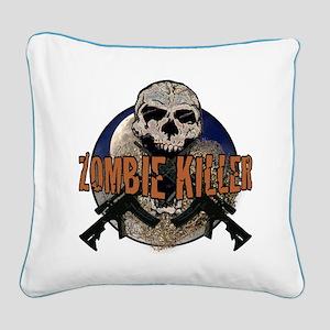 Tactical zombie killer Square Canvas Pillow
