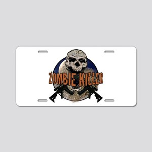Tactical zombie killer Aluminum License Plate