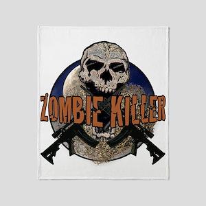 Tactical zombie killer Throw Blanket
