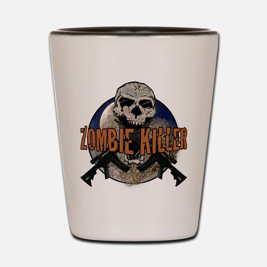 Tactical zombie killer Shot Glass
