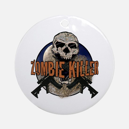 Tactical zombie killer Ornament (Round)