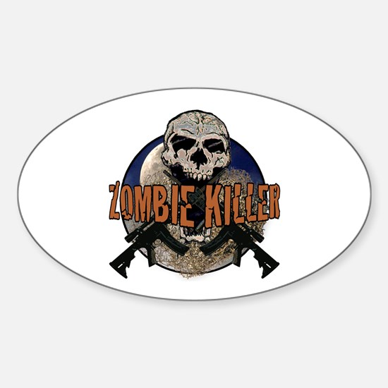 Tactical zombie killer Sticker (Oval)