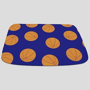 Blue Basketball Pattern Bathmat