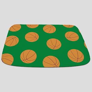 Green Basketball Pattern Bathmat