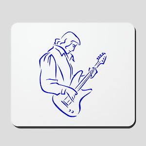 mal ba s playe outline blue Mousepad