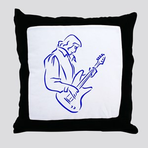 mal ba s playe outline blue Throw Pillow