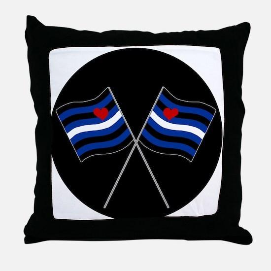 BDSM Racing Flags Throw Pillow