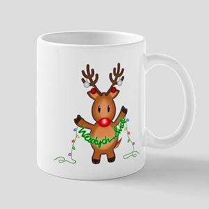 Wesolych Swiat Deer Mugs