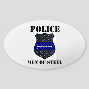Police Men Of Steel Sticker