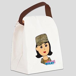 Air Force Camo Head Medium Canvas Lunch Bag