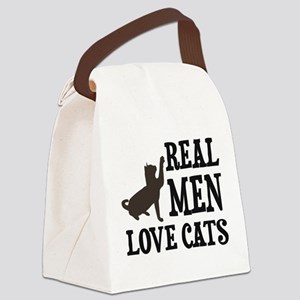 Real Men Love Cats Canvas Lunch Bag