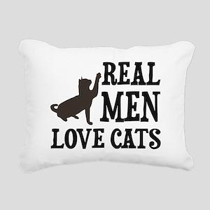 Real Men Love Cats Rectangular Canvas Pillow