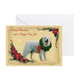 Great pyrenees christmas Greeting Cards (20 Pack)