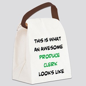 awesome produce clerk Canvas Lunch Bag