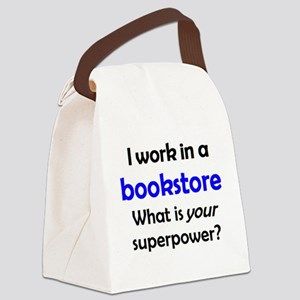 work in bookstore Canvas Lunch Bag