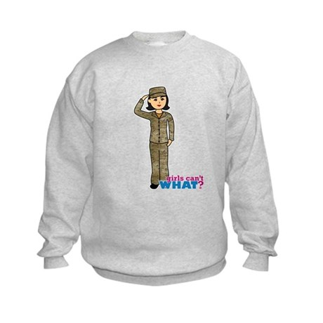 Air Force Camo Medium Kids Sweatshirt